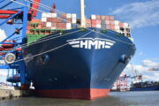 First call in Hamburg by world's largest containership: 'HMM ALGECIRAS'